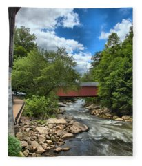 Bridging Slippery Rock Creek Fleece Blanket