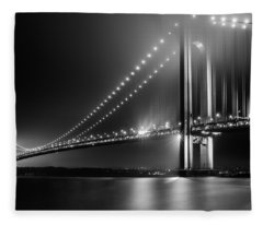 Bridging Verrazano Narrows Fleece Blanket