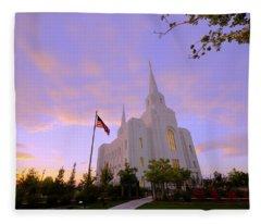 Brigham City Temple I Fleece Blanket