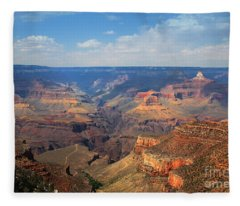 Bright Angel Trail Grand Canyon National Park Fleece Blanket