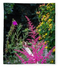 Brilliant Astilbe In Markree Castle Gardens Fleece Blanket