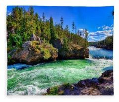 Brink Of Upper Falls Fleece Blanket