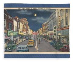 Bristol At Night In The 1940's Fleece Blanket