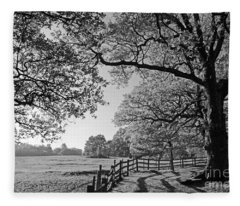 British Landscape Fleece Blanket
