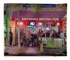 British Pub Fleece Blanket