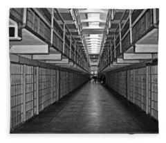 Broadway Walkway In Alcatraz Prison Fleece Blanket