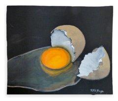 Broken Egg Fleece Blanket