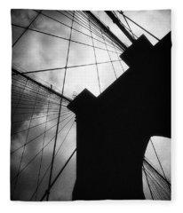 Brooklyn Bridge Silhouette Fleece Blanket