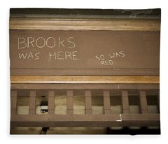 Brooks Was Here Fleece Blanket