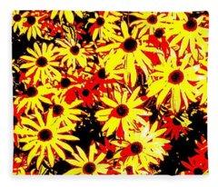 Brown Eyed Susans I Fleece Blanket