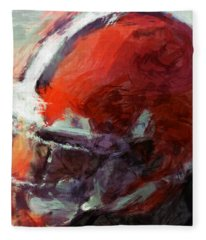 Browns Art Helmet Abstract Fleece Blanket