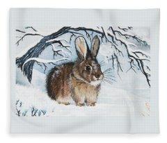 Brrrr Bunny Fleece Blanket