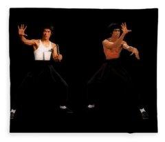 Bruce Lee - Times Four Fleece Blanket