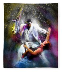 Bruce Springsteen And Clarence Clemons Fleece Blanket