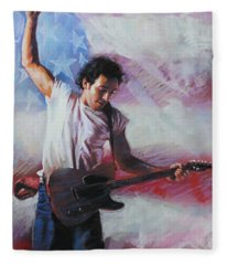 Bruce Springsteen The Boss Fleece Blanket