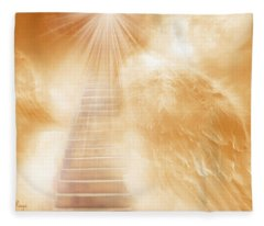 Brush Of Angels Wings Fleece Blanket