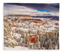 Bryce Canyon Winter Fleece Blanket