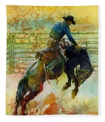 Bucking Rhythm Fleece Blanket