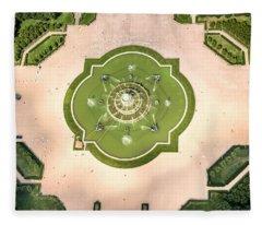 Buckingham Fountain  Aerial Fleece Blanket