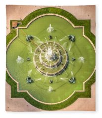 Buckingham Fountain From Above Fleece Blanket