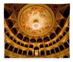 Budapest Opera House Auditorium Fleece Blanket