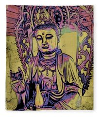 Buddha Blessings Fleece Blanket