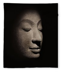 Buddha Head From The Early Ayutthaya Period Fleece Blanket