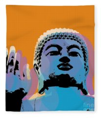 Buddha Pop Art - Warhol Style Fleece Blanket