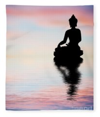 Buddha Reflection Fleece Blanket