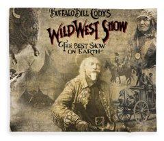 Buffalo Bill Wild West Show Fleece Blanket