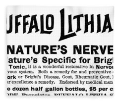 Buffalo Lithia Water, 1888 Fleece Blanket