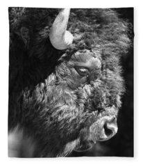 Buffalo Portrait Fleece Blanket