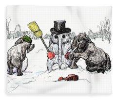 Building A Snow Elephant Fleece Blanket