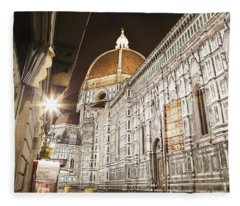 Buildings And Florence Cathedral Fleece Blanket