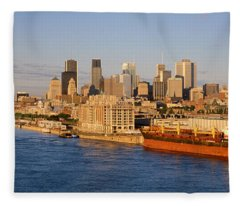Buildings At The Waterfront, Montreal Fleece Blanket