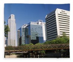 Buildings At The Waterfront, Qwest Fleece Blanket