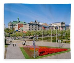 Buildings In A City, Place Jacques Fleece Blanket