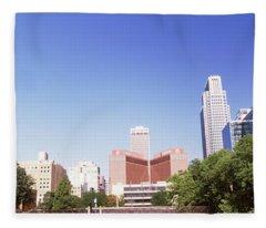 Buildings In A City, Qwest Building Fleece Blanket