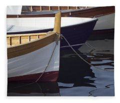 Burgundy Boat Fleece Blanket