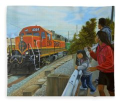 Burlington Northern Santa Fe Fleece Blanket