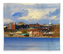 Burlington Vermont Lakefront Fleece Blanket