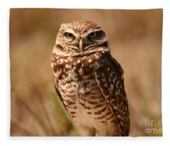 Burrowing Owl Impressions Fleece Blanket