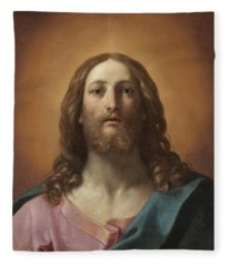 Bust Of Christ Fleece Blanket