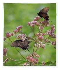 Butterfly Duet  Fleece Blanket
