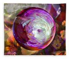 Butterfly Garden Globe Fleece Blanket