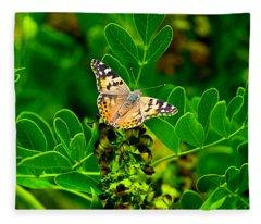 Butterfly In Paradise Fleece Blanket