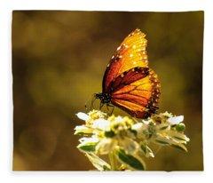 Butterfly In Sun Fleece Blanket