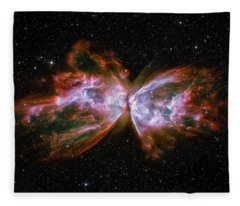 Butterfly Nebula Ngc6302 Fleece Blanket