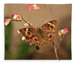 Butterfly On Pink Fleece Blanket