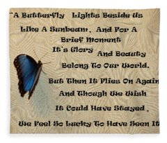 Butterfly Poem Fleece Blanket